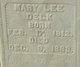 Mary Leigh <I>Chapman</I> Delk