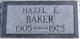 Hazel Eula <I>Ragan</I> Baker