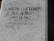 """Martha """"Mattie"""" <I>Robertson</I> Clifton"""