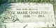 "Profile photo:  Rose Marie ""Marie"" <I>Allen</I> Charlton"