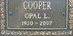Profile photo:  Opal L. Cooper