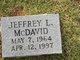 Jeffrey L McDavid