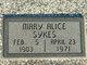 Profile photo:  Mary Alice <I>Hoy</I> Sykes