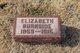 Elizabeth Josephine <I>Hall</I> Burnside