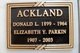 Profile photo:  Elizabeth Y <I>Parkin</I> Ackland