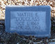 "Profile photo:  Martha E ""Mattie"" <I>Eads</I> Douglass"