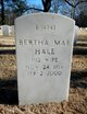 Profile photo:  Bertha Mae Hale