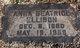 Anna Beatrice <I>Pearson</I> Ellison