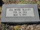 Ida <I>Webb</I> Manry