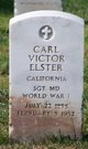 Profile photo:  Carl Victor Elster