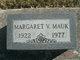 Margaret V. <I>Mason</I> Mauk