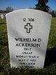 Wilhelm Dean Ackerson