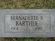 Profile photo:  Bernadette R Barthle