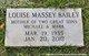Profile photo:  Louise Swann <I>Massey</I> Bailey
