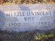 Profile photo:  Myrtle Viola <I>Davis</I> Vincent