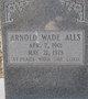 Profile photo:  Arnold Wade Alls