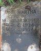Profile photo:  Annie Martha Skipper