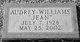 Profile photo:  Audrey (Jean) <I>Williams</I> Lindley