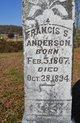 """Francis Spyrah """"Spider"""" Anderson"""