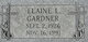 Elaine <I>Lange</I> Gardner
