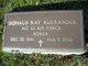 Donald Ray Alexander