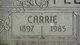 Profile photo:  Carrie Fletcher