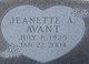 Jeanette A. Avant