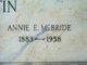 Anne E <I>McBride</I> Martin