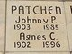 Profile photo:  Agnes C. Patchen