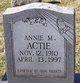 Profile photo:  Annie M. Actie