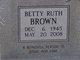 Betty Ruth Brown
