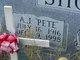 """Profile photo:  A J """"Pete"""" Shores"""