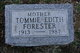 Tommie Edith <I>Trusty</I> Forester
