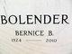 "Bernice ""Betty"" <I>Rieckhoff</I> Bolender"