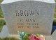 C Alva Brown