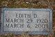 Profile photo:  Edith D. <I>Davis</I> Edwards