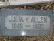 Profile photo:  Julia Hester <I>Sims</I> Allen
