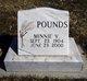 Minnie V. <I>Boss</I> Pounds