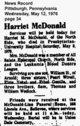 Harriet M. <I>Wedlock</I> McDonald