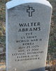 Profile photo:  Walter Abrams