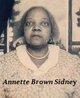 Annette Montague <I>Brown</I> Sidney