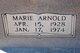 Marie <I>Arnold</I> Tant
