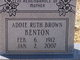 Addie Ruth <I>Brown</I> Benton