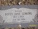 Profile photo:  Betty Jane Leming