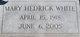 Mary C. <I>Hedrick</I> White