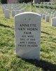 Profile photo:  Annette A Fair