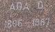 Profile photo:  Ada Davis <I>Peden</I> Lewelling