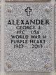 Profile photo:  George J Alexander