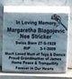 Profile photo:  Margaretha <I>Stricker</I> Blagojevich