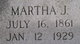 Martha Jane <I>Sanders</I> Brewer